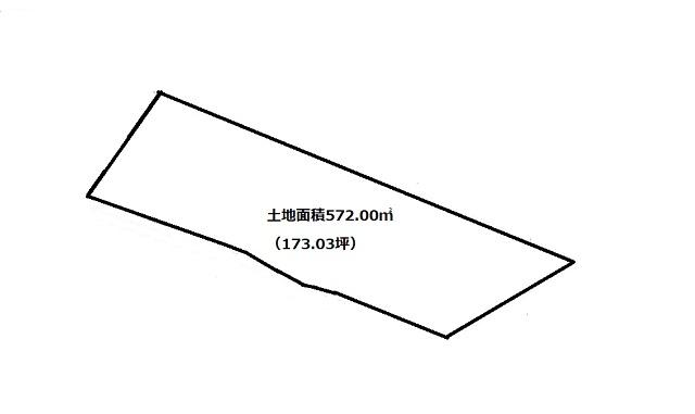 土地面積572.00㎡、約173.03坪