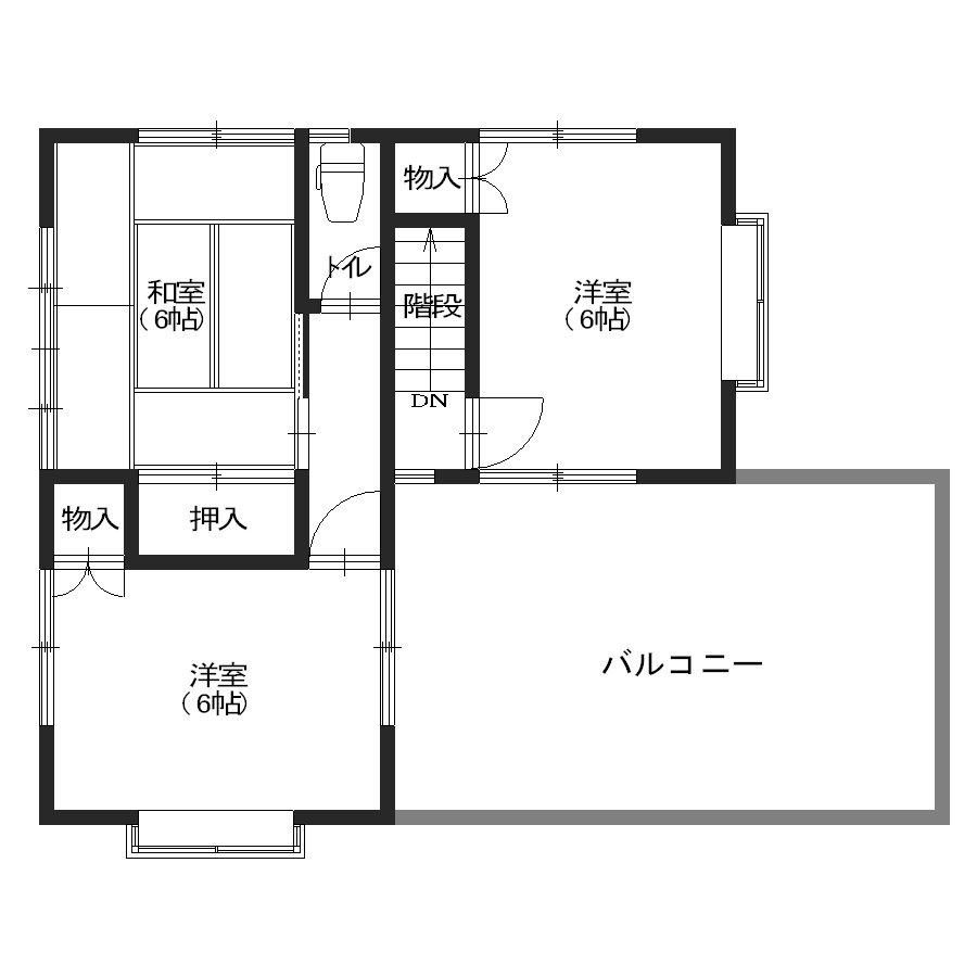 間取り(2階平面図)