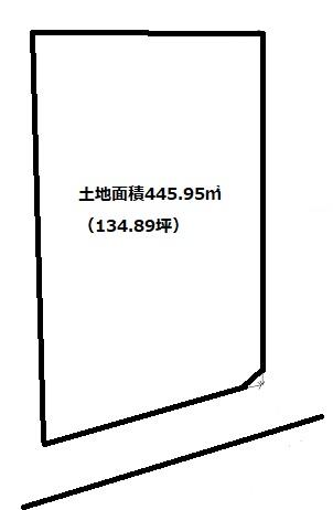 土地445.95㎡(134.89坪)