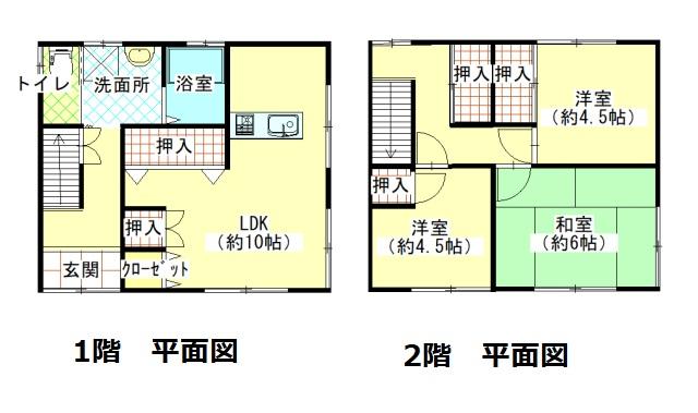 建物84㎡(約25.41坪)、土地168.08㎡(約50.84坪)、4LDK