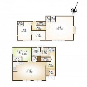 土地:212.16㎡(約64坪)、建物:111.39㎡(約33坪)、3SLDK