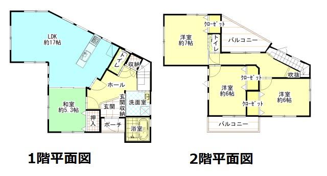 土地:224.79㎡、建物104.12㎡、4LDK
