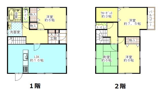 土地:156.87㎡、建物105.16㎡、間取り:4LDK