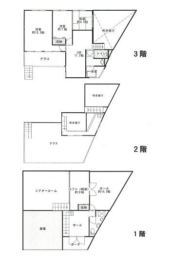 土地:246.95㎡、建物:259.68㎡、4SLDK