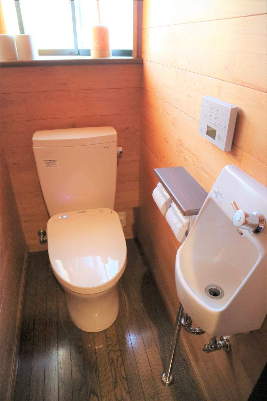 手洗い場つきの、トイレ♪