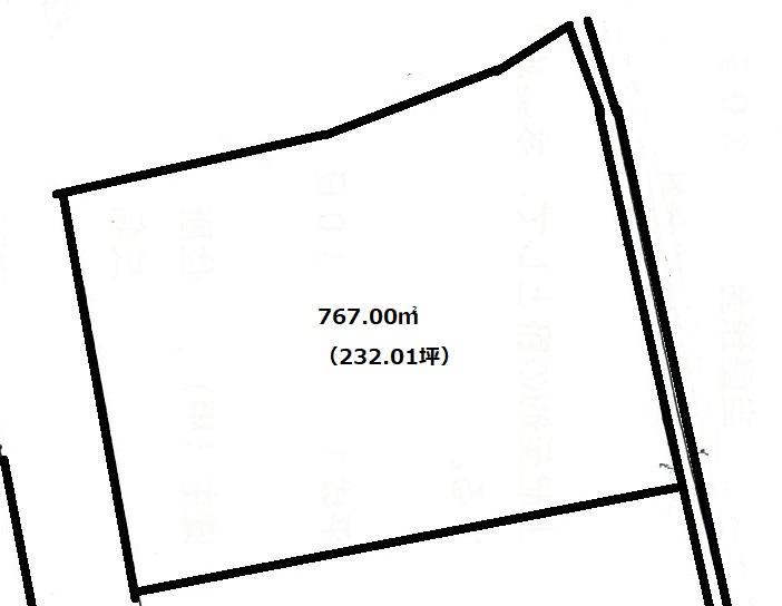 敷地:767.00㎡(約232坪)