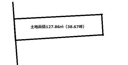 土地面積127.86㎡(38.67坪)