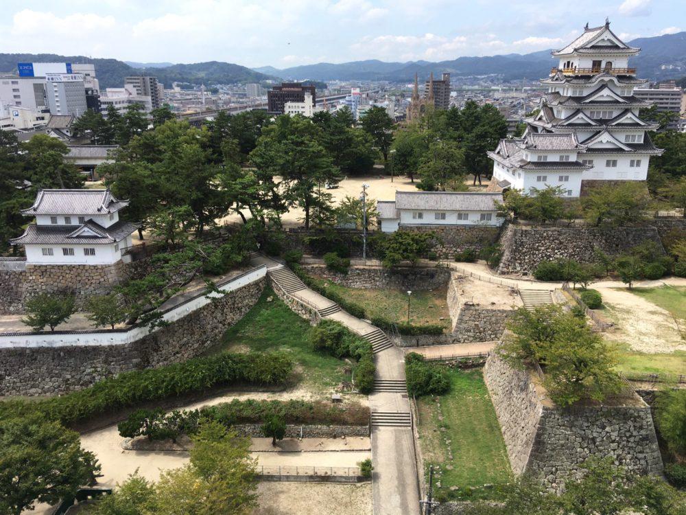眺望:お城を見下ろす絶景♪