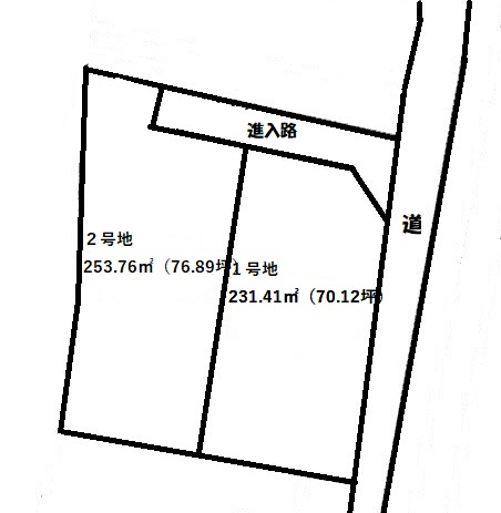 2号地 253.76㎡(76.89坪)