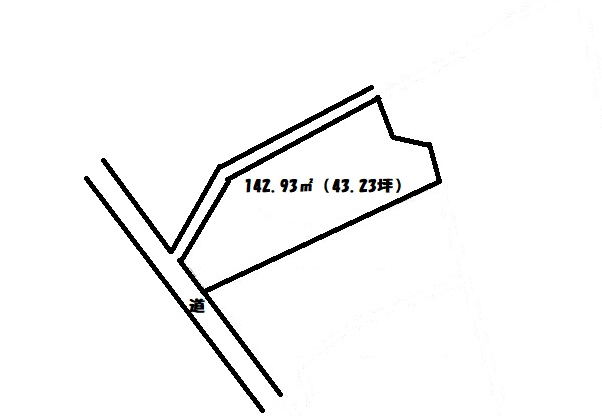 敷地面積:142.93㎡(43.23坪)